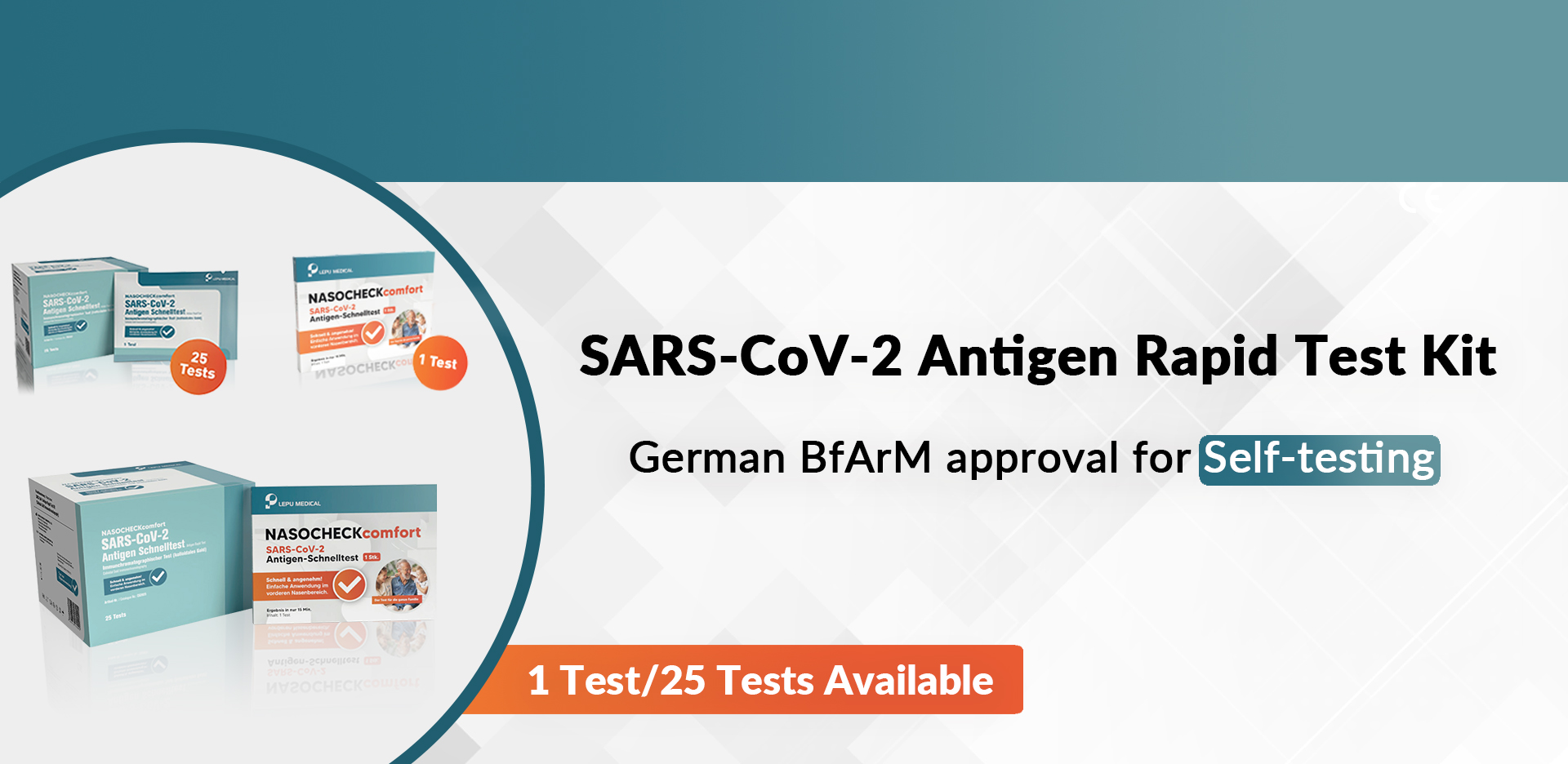 SARS-CoV-2 Antigen Rapid Test Kit(German BfArM approval for self-testing)